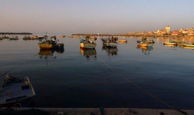 סירות דייג מול חופי עזה