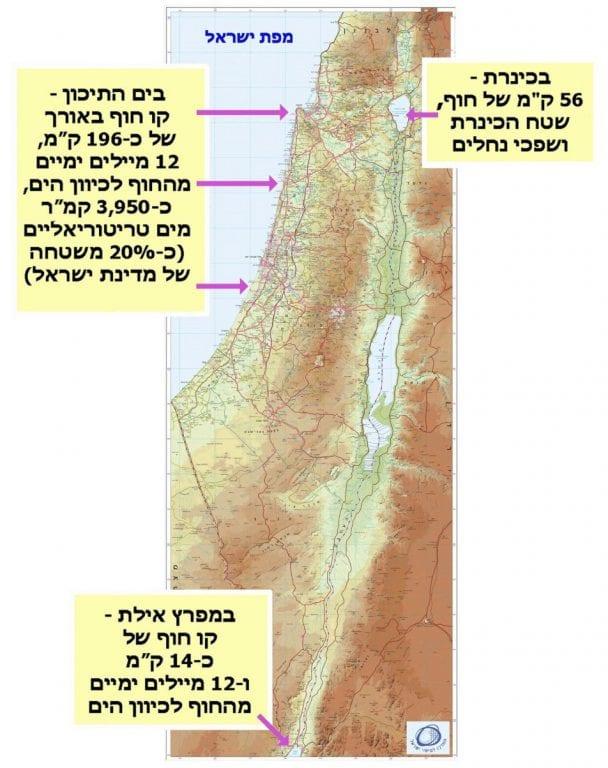 מפת ישראל - תחולת נוהל רישיונות דיג