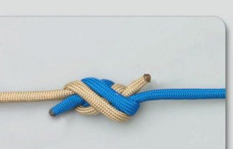 """קשר """"מנתחים"""" – Surgeon's knot"""