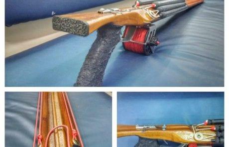 """דוגית: """"חדש במחלקת צלילה רובה דייג מעץ מיוצר בעבודת יד"""""""