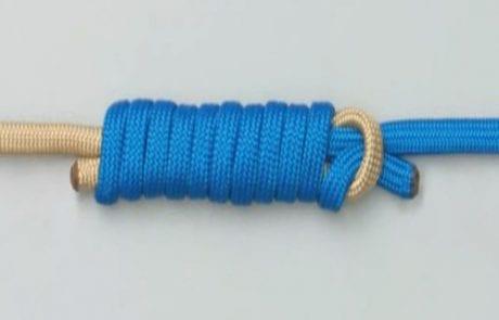 קשר אולברייט קשירה של שוק לידר אל חוט בד – Albright knot