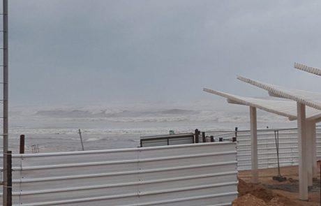 השירות המטאורולוגי: אזהרה על ים גבוה ומסוכן לרחצה (28/12/2016)
