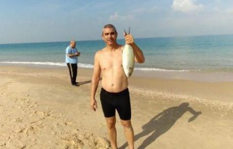 """יורם כהן: """"שבת של כייף, ים ללא גלים בכלל, מזג אוויר נהדר וטרכון 1.5 ק""""ג"""""""