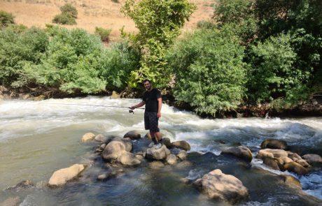 """נפתלי דייג במים מתוקים: """"מסע דייג לאורך נהר הירדן. מקומות יפים מאד. אזור ההררי. והדגים שיתפו פעולה"""""""