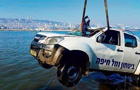 תושב עכו הציל ממוות מאבטח שרכבו שקע בים (mynet)