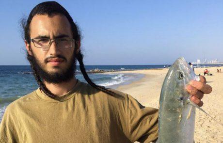 """אבי אברהם: """"כמות של דניסים וטרכון אחד גדול סוף סוף משהו יפה מהחוף וכמה דגי תוכי ששוחררו"""""""