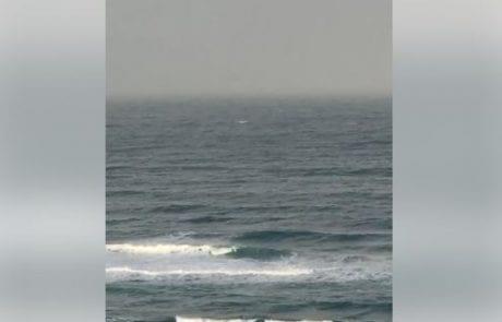 """מירון שמאי:""""בוקר טוב יום שני חוף תל ברוך אמנם קצר אבל נותן להבין בדיוק את מצב הים"""""""