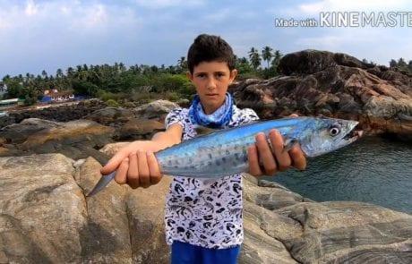 """גיא וזיו: """"שני סרטוני דייג בז'ירז'ור מהסלעים בהודו."""""""