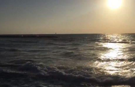 """מירון שמאי: """"יום שבת 18:10 בערב מצב הים רוח חזקה אבל אחלה ים לדייג"""""""