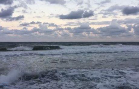 """מירון שמאי: """"בוקר טוב יום ראשון 6:15 בבוקר זה מצב הים תחליטו אתם"""""""