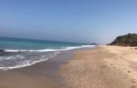 ניר עם עדכון בוקר מהים – חוף הפארק באשקלון (25/03/2017)