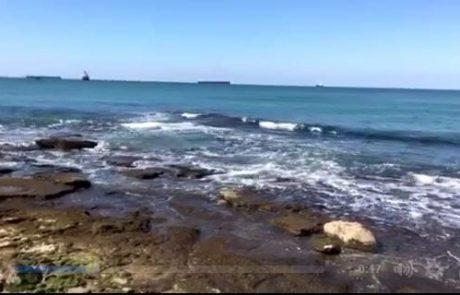 ניר עם עדכון בוקר מהים – חוף הפארק באשקלון (18/02/2017)