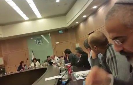 ועדת הפנים בכנסת עם נציגות של ISFA ולהציל את הים והדגה התוצאות נהדרות לים