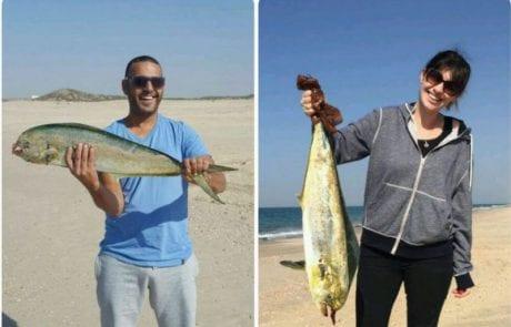 המלצת צפייה: תומר ומילנה עם תפיסה מדהימה של דוראדו יפיוף מהחוף