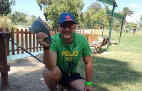 מוטי טווסי: דיג במים מתוקים נחל האסי