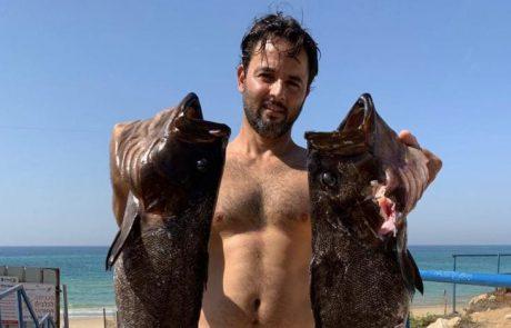 """אריה אדר: """"רציתי לשתף אותכם בדייג בצלילה חופשית של בן דודה שלי"""""""