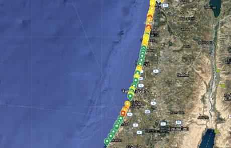 """המשרד להגנת הסביבה מפרסם את """"רמזור החופים"""" של הים התיכון"""