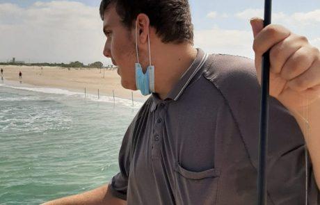 """עומרי אלקובי: """"יום חם והרבה גלים אבל שהוא יצא זה היה שווה את זה"""""""
