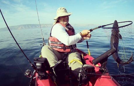 """עמית משני דייגים: """"פתיחת העונה דיג טרולינג בכנרת עם הקיאק, איזה פתיחת עונת טרולינג עוצמתית."""""""