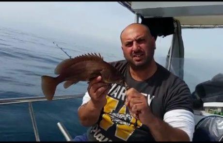 ראובן דייג ספורטיבי קשוב לטבע ומשחרר לוקוס מתחת לגיל רבייה