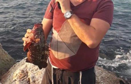 """חיים נחמיאס: """"בסביבות 4 הולך עם הבן לדוג לוקוסים 2 לוקוסים גדולים שוחררו לים חזרה"""""""