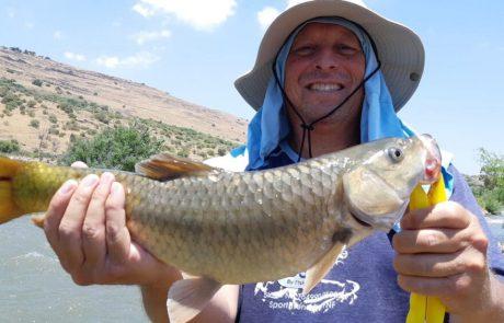 """ליאור בן חיים: """"יציאת דיג מהנה בנהר הירדן. הרבה טבע ,דגים וכיף. ושבירת שיא של שרון"""""""