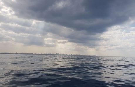 מצב הים בתל אביב (10:40 09/11/2017)