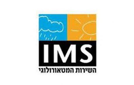 השירות המטאורולוגי הישראלי: אזהרה על ים גבוה ומסוכן לרחצה בים התיכון ב-23/11 מ-07 עד 13.